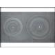 A16 - čuguna plīts ar diviem caurumiem 700x400mm