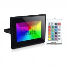 50W RGB LED Prožektors, IP65, dimmējams, melns