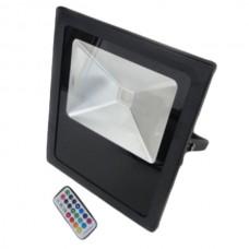 10W (800Lm) LED SMD prožektors ar tālvadības pulti, AC200-240V, 120°, IP65, RGB