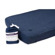 Poofi matrača pārvalks (kokvilnas) 70x140 cm / tumži zilā krāsā