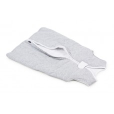Poofi mazuļu guļammaiss (kokvilnas) / pelēka - balta krāsa